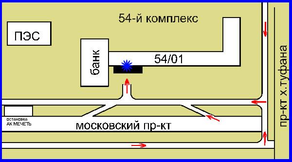 Схема проезда в магазин